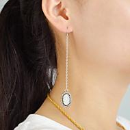 저렴한 -여성용 롱 드랍 귀걸이 - 빈티지 패션 보석류 실버 제품 일상 데이트 1 쌍