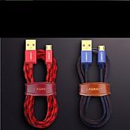저렴한 -마이크로의 USB USB 케이블 어댑터 빠른 청구 케이블 제품 삼성 / Huawei / Xiaomi 100 cm 제품 TPE