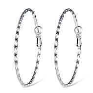 levne -Dámské Klasika Náušnice - Kruhy - stylové Jednoduchý Moderní Šperky Stříbrná Pro Denní Formální 1 Pair