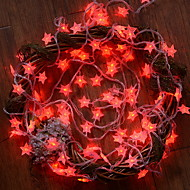 ieftine -10m Fâșii de Iluminat 100 LED-uri Roșu Decorativ 220-240 V 1set