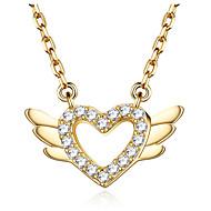 preiswerte -Damen Kubikzirkonia Geometrisch Anhängerketten - S925 Sterling Silber Herz Einfach Gold, Silber 40 cm Modische Halsketten Schmuck 1pc Für Geschenk, Verabredung