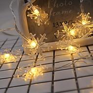 Χαμηλού Κόστους -2m Φώτα σε Κορδόνι 20 LEDs Θερμό Λευκό Διακοσμητικό Μπαταρίες AA Powered 1set