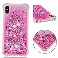 저렴한 -케이스 제품 Apple iPhone XR / iPhone XS Max 충격방지 / 플로잉 리퀴드 / 투명 뒷면 커버 글리터 샤인 소프트 TPU 용 iPhone XS / iPhone XR / iPhone XS Max
