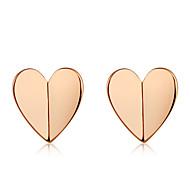 levne -Dámské Klasika Peckové náušnice - Růže pozlacená Srdce stylové Jednoduchý Moderní Šperky Růžové zlato Pro Denní Formální 2pcs