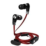 お買い得  -langsdom JM02 耳の中 ケーブル ヘッドホン イヤホン / 携帯電話 イヤホン マイク付き ヘッドセット