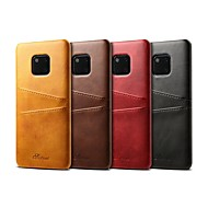 tok Για Huawei Huawei Mate 20 Pro / Huawei Mate 20 Θήκη καρτών / Ανθεκτική σε πτώσεις Πίσω Κάλυμμα Μονόχρωμο Σκληρή PU δέρμα για Huawei Mate 20 pro / Huawei Mate 20