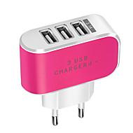 Přenosná nabíječka Nabíječka USB EU zásuvka Běžný 3 USD porty 3.1 A DC 5V pro
