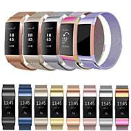 Urrem for Fitbit Charge 3 Fitbit Milanesisk rem Rustfrit stål Håndledsrem