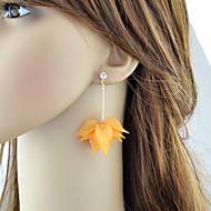 levne -Dámské Geometrické Visací náušnice - Kytky stylové Cute Style Šperky Bílá / Oranžová Pro Denní Rande 1 Pair