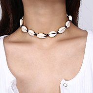 cheap -Women's Beaded Necklace - Shell Tropical White, Black, Red 35 cm Necklace Jewelry 1pc For Wedding, Engagement, Going out, Bikini, Festival