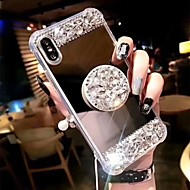 Coque Pour Apple iPhone XS Max / iPhone 6 Antichoc / Avec Support Coque Strass Dur Acrylique pour iPhone XS / iPhone XR / iPhone XS Max