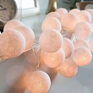 tanie -3 M Łańcuchy świetlne 20 Diody LED Ciepła biel Dekoracyjna 220-240 V 1 zestaw