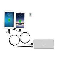 رخيصةأون -USB مصغر / نوع C محول كابل أوسب 1 إلى 2 / الشحن السريع كابل من أجل Samsung / Huawei / Xiaomi 150 cm من أجل TPE