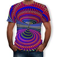 Tee-shirt Homme, 3D Imprimé Col Arrondi Arc-en-ciel XL