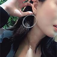 Χαμηλού Κόστους -Γυναικεία Κρίκοι Σκουλαρίκι Σκουλαρίκια Κοσμήματα Χρυσό / Ασημί Για Πάρτι Επέτειος Δώρο Εξόδου Φεστιβάλ 1 Pair