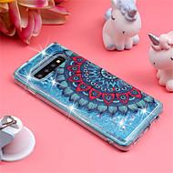 cheap -Case For Samsung Galaxy Galaxy S10 Plus / Galaxy S10 E Shockproof / Flowing Liquid / Pattern Back Cover Mandala / Glitter Shine Soft TPU for S9 / S9 Plus / S8 Plus