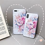 Coque Pour Apple iPhone XR / iPhone XS Max Avec Support / Ultrafine / Motif Coque Fleur Flexible TPU pour iPhone XS / iPhone XR / iPhone XS Max