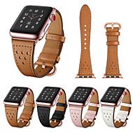 צפו בנד ל Apple Watch Series 4/3/2/1 Apple אבזם קלאסי עור אמיתי רצועת יד לספורט