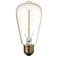 cheap -1pc 40 W E26 / E27 ST64 Yellow Transparent Body 220-240 V