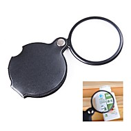 cheap -Mini Pocket 10x Folding Jewelry Magnifier Magnifying For High-definition Optical Glass Reading Watch Repair Eye Glass Loupe