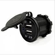 lossmann bil oplader 2 USB-porte til 5 V hurtig opladning vandtæt