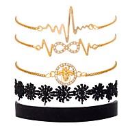 ieftine -5pcs Pentru femei Bratari Vintage Cercei / brățară Clasic Casual / sportiv Modă Cute Stil Elegant Brățări Bijuterii Auriu Pentru Zilnic Școală Stradă Ieșire Festival