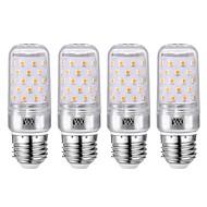 ywxlight® 4pcs e27 12w 1200lm ampoules à led ampoules à led ampoules à led 60led smd 2835 blanc froid blanc chaud 85-265 v argent