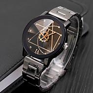 preiswerte -Herrn Uhr Kleideruhr Quartz Edelstahl Schwarz Armbanduhren für den Alltag Cool Analog Freizeit Modisch Weiß Schwarz / Ein Jahr