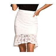 זול -אחיד - חצאיות בתולת ים \חצוצרה בסיסי בגדי ריקוד נשים