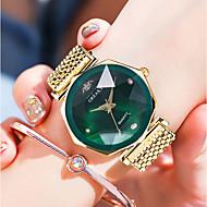 levne -Dámské Náramkové hodinky zlaté hodinky Křemenný Nerez Stříbro / Zlatá / Růžové zlato Voděodolné imitace Diamond Analogové Vintage Módní - Fialová Zelená Černá / Růžové zlato