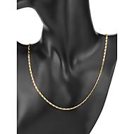 저렴한 -남성용 클래식 체인 목걸이 도금 골드 단순한 클래식 멋진 골드 56/61 cm 목걸이 보석류 1 개 제품 일상 작동