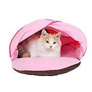 tanie -Psy Koty Małe zwierzątka futerkowe Stroje Łóżko Zwierzęta domowe Wkładki Solidne kolory Zatrzymujący ciepło Miękka Zmywalny Różowy Dla zwierząt domowych