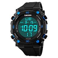Χαμηλού Κόστους -SKMEI Ανδρικά Ψηφιακό ρολόι Ψηφιακό Συνθετικό δέρμα με επένδυση Μαύρο 50 m Ανθεκτικό στο Νερό Ημερολόγιο Χρονόμετρο Ψηφιακό Κλασσικό Μοντέρνα - Μαύρο Κόκκινο Μπλε