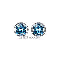 Χαμηλού Κόστους -Γυναικεία Κρυστάλλινο Κλασσικό Κουμπωτά Σκουλαρίκια S925 Sterling Silver Σκουλαρίκια Στυλάτο Απλός Κοσμήματα Βυσσινί / Ουράνιο Τόξο / Μπλε Για Καθημερινά Επίσημο Δουλειά Γραφείο & Καριέρα 1 Pair