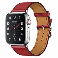 Klokkerem til Apple Watch Series 4/3/2/1 Apple Klassisk spenne Ekte lær Håndleddsrem