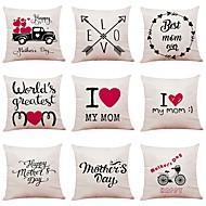 cheap -9 pcs Linen Pillow Cover, Simple Geometric Pattern Black & White New Arrival European Style