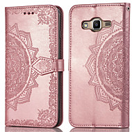 cheap -Case For Samsung Galaxy J2 Prime Card Holder / Flip Full Body Cases Solid Colored Hard PU Leather for J2 Prime