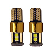 cheap -2pcs T10 / W5W Car Light Bulbs 2 W SMD 2835 200 lm 6 LED License Plate Lights / Tail Lights / Interior Lights For universal All years