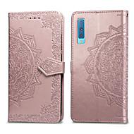 זול -מגן עבור Samsung Galaxy A7 (2018) מחזיק כרטיסים / נפתח-נסגר כיסוי מלא אחיד קשיח עור PU ל Galaxy A7(2018)