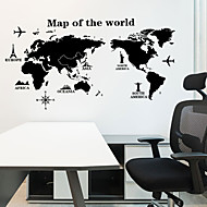 cheap -Decorative Wall Stickers - Map Wall Stickers Landscape Living Room / Bedroom / Kitchen