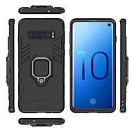 cheap -Case For Samsung Galaxy Galaxy S10 / Galaxy S10 Plus Ring Holder Back Cover Solid Colored Hard PC for S9 / S9 Plus / S8 Plus