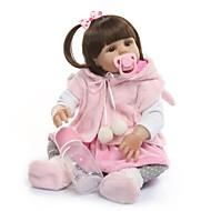 ราคาถูก -NPKCOLLECTION Reborn Dolls เด็กทารก เด็กผู้หญิง 20 inch ซิลิโคนร่างกายเต็มรูปแบบ ไวนิล - ของขวัญ ดีไซน์มาใหม่ การปลูกถ่ายประดิษฐ์ตาสีน้ำตาล เด็ก ทุกเพศ Toy ของขวัญ