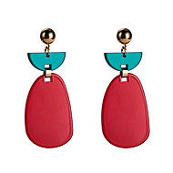 Χαμηλού Κόστους -Γυναικεία Πολύχρωμο Αχλάδι Κρεμαστά Σκουλαρίκια Σκουλαρίκια Ευρωπαϊκό Κοσμήματα Βυσσινί / Κόκκινο / Βαθυγάλαζο Για Καθημερινά 1 Pair