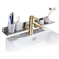 voordelige -Badkamer accessoiresets / Badkamerplank / Tandenborstelhouder Cool / Creatief / Multifunctioneel Hedendaagse / Modern Roestvast staal 1pc - Badkamer Muurbevestigd