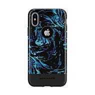 cheap -BENTOBEN Case For Apple iPhone XS Shockproof / Pattern Back Cover Food / sky / Color Gradient Hard TPU / PC for iPhone XS