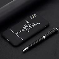 baratos -Capinha Para Apple iPhone XR / iPhone XS Max Áspero / Estampada Capa traseira Mulher Sensual Macia TPU para iPhone XS / iPhone XR / iPhone XS Max