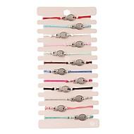 Χαμηλού Κόστους -12pcs Γυναικεία Πολυεπίπεδο Vintage Βραχιόλια Σκουλαρίκια / βραχιόλι αργαλειό βραχιόλι Ανανάς Απλός Κλασσικό Μοντέρνα χαριτωμένο στυλ Πολύχρωμα Βραχιόλια Κοσμήματα Ουράνιο Τόξο Για