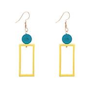 Χαμηλού Κόστους -Γυναικεία Κρεμαστά Σκουλαρίκια Σκουλαρίκι θαυμαστής σκουλαρίκια Ξύλο Σκουλαρίκια Απλός Μοντέρνο Μοντέρνα Κοσμήματα Κίτρινο / Ροζ Για Καθημερινά Αργίες Δουλειά 1 Pair