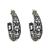 Χαμηλού Κόστους -Γυναικεία Κρίκοι Σκουλαρίκια Κοσμήματα Ασημί Για Δώρο 1 Pair