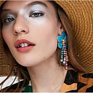 Χαμηλού Κόστους -Γυναικεία Πολύχρωμο Πεπαλαιωμένο Στυλ Κρεμαστά Σκουλαρίκια Σκουλαρίκια Λουλούδι Ευρωπαϊκό Κοσμήματα Κόκκινο / Μπλε / Ροζ Ανοικτό Για Καθημερινά 1 Pair